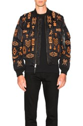 Marcelo Burlon Alpha Ma 1 Jacket In Black Orange Black Orange