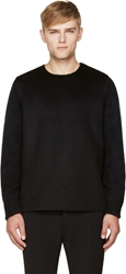Yang Li Black Mohair Sleeves Sweater