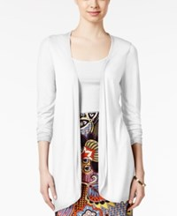 All Once All Once Long Sleeve Open Front Cardigan White