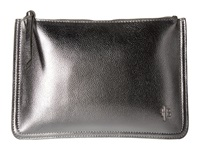 Mighty Purse Vegan Leather Charging Two Tone Clutch Metallic Silver Metallic Rose Gold Clutch Handbags