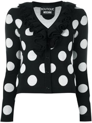 Boutique Moschino Polka Dot Cardigan Black
