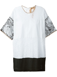 N.21 Lace And Embroidery Panel T Shirt