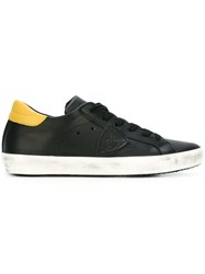 Philippe Model Logo Patch Sneakers Black