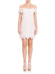 Nightcap Clothing Seashell Off The Shoulder Dress White
