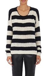 Atm Anthony Thomas Melillo Women's Striped Wool Blend Sweater Nude