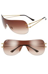 Ray Ban Women's 60Mm Shield Sunglasses Brown Gradient