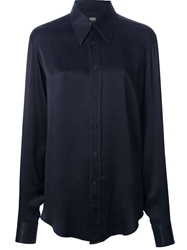 Gianfranco Ferre Vintage Pointed Collar Shirt Blue