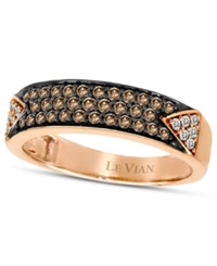 Le Vian Chocolate Diamond 3 8 Ct. T.W. And White Diamond 1 10 Ct. T.W. Pave Band In 14K Rose Gold