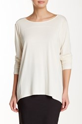 Lilla P Seamed Boatneck Tee White