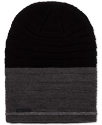 Calvin Klein Men's Nubble Slouch Beanie Black