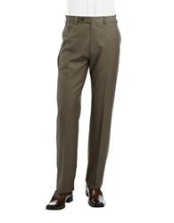 Calvin Klein Straight Leg Dress Pants Olive