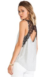 Bb Dakota Mindy Lace Tank Gray