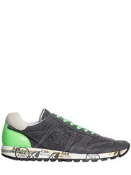 Premiata Sky Laser Perforated Suede Sneakers
