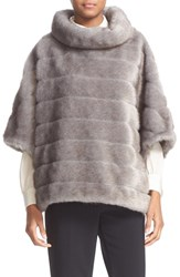 Kate Spade Women's New York Faux Mink Fur Cape