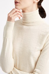 Mih Jeans Slim Polo Neck Jumper Ivory