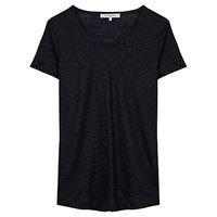 Gerard Darel Calista Linen T Shirt Midnight Blue