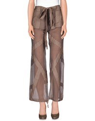 Pf Paola Frani Trousers Casual Trousers Women Light Brown
