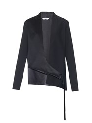 Dion Lee Shell Silk Satin Jacket Navy