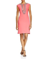 Sue Wong Cap Sleeve Embellished Dress Flamingo