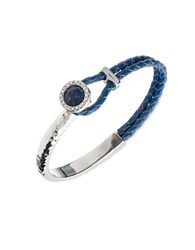 Lonna And Lilly Semi Precious Sodalite Silvertone Braided Bracelet