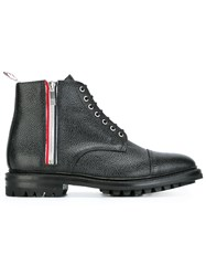 Thom Browne Lace Up Ankle Boots Black