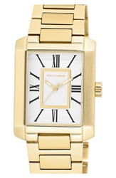 Vince Camuto Rectangle Bracelet Watch 40Mm Gold White