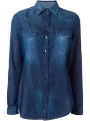 Diesel Western Denim Shirt Blue
