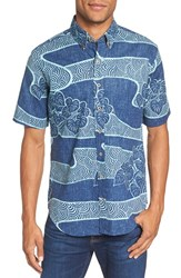 Reyn Spooner Men's 'Lo'i Kalo' Print Short Sleeve Shirt