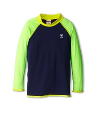 Tyr Solid Rashguard Little Kids Big Kids Navy Green Men's Swimwear