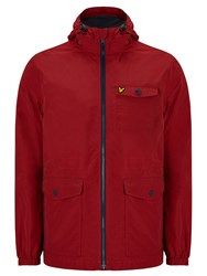 Lyle And Scott Microfleece Lined Jacket Ruby