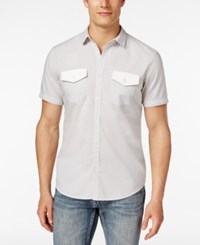 Inc International Concepts Men's Osric Multi Pocket Short Sleeve Shirt Only At Macy's Silverstream