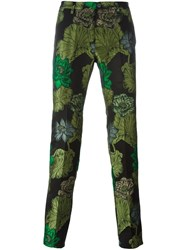 Christian Pellizzari Floral Print Trousers Black