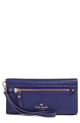 Kate Spade Women's New York 'Cobble Hill Rae' Leather Wristlet Wallet Blue