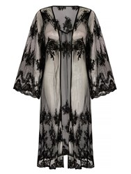 Mela London Long Lace Kimono Black
