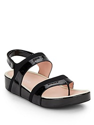 Taryn Rose Avin Strappy Thong Sandals Black