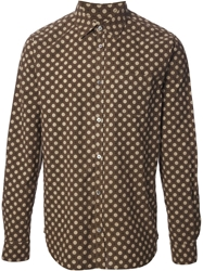 Department 5 Spot Print Shirt Brown