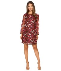 Just Cavalli Pansy Embroidered Sheath Dress Chestnut Women's Dress Brown