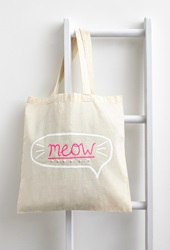 Forever 21 Zhuu Meow Tote Natural White