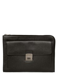 Dolce And Gabbana Dauphine Leather Document Holder