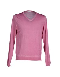 Zanieri Knitwear Jumpers Men Light Purple