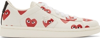 Comme Des Garcons Ivory Heart Print Converse Edition Sneakers