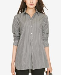 Polo Ralph Lauren Striped Tunic Nero White