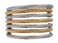 Alor Ring Modern Cable Mix 02 34 S760 00 Stainless Steel Gold