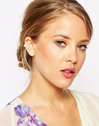 Asos Limited Edition Occasion Flower Anywhere Ear Cuff Pink