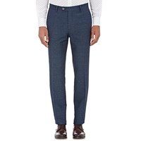 Etro Herringbone Weave Trousers Navy