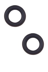 Marc By Marc Jacobs Rubber Doughnut Stud Earrings Black