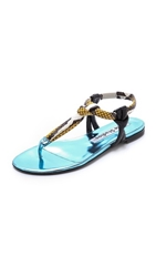 Acne Studios Arbor Met Mix Flat Sandals Ice Blue
