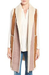 French Connection Women's Long Faux Shearling Vest