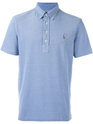 Ralph Lauren Embroidered Logo Polo Shirt Blue