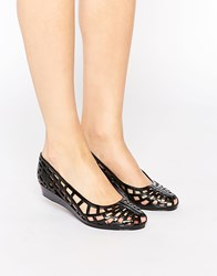 Juju Christabel Cut Out Jelly Flat Shoes Black